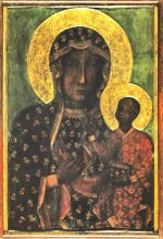 Black Madonna - placed above the altar in the Chapel of the Miraculous Picture in Jasna Góra