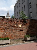 section of the Warsaw ghetto wall