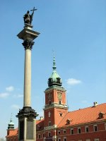 Royal Castle square with Sigismund's Column